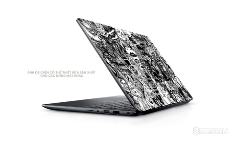Skin Laptop Hình Sticker Black Bom