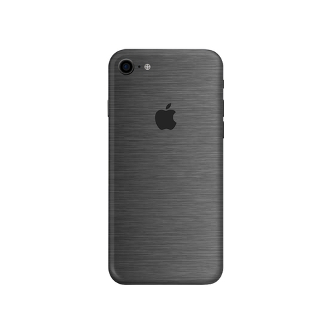 Dán Skin IPhone XR | iPhone 11 | Màu Xám Xước (Brusher Steel)