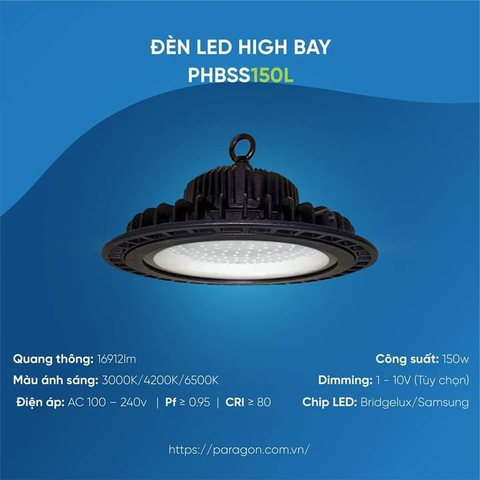 Đèn LED HighBay 150W PHBSS150L