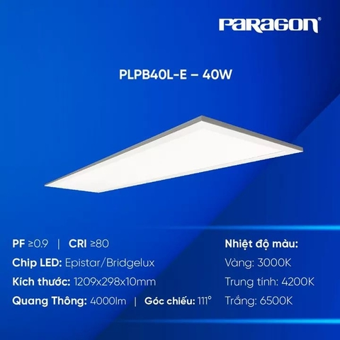 Đèn LED Panel 1200x300 Dòng Eco