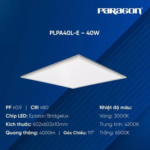 Đèn LED Panel 600x600 Dòng Eco PLPA40L-E