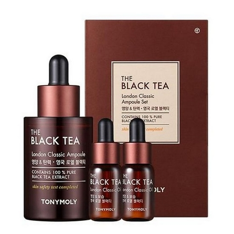 BỘ DƯỠNG DA THE BLACK TEA LONDON CLASSIC AMPOULE SET TONYMOLY