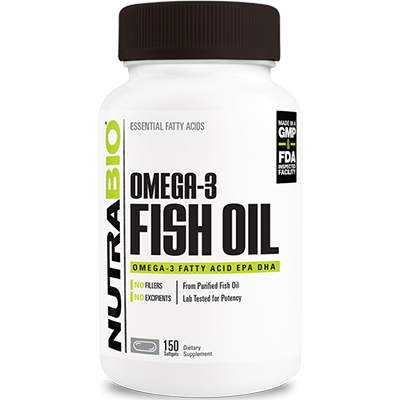 NutraBio Fish Oil (150 viên)