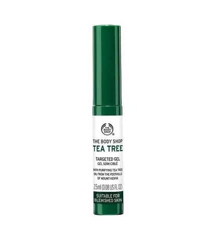 Gel trị mụn the body shop tea tree targeted gel suitable for blemished skin 2,5ml