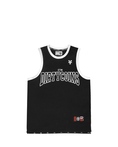 DirtyCoins CTM Basketball Tank Top - Black