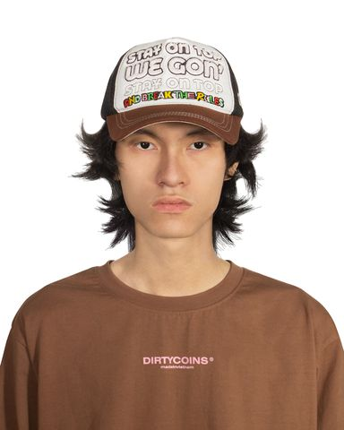 DirtyCoins On Top Trucker Hat - Brown