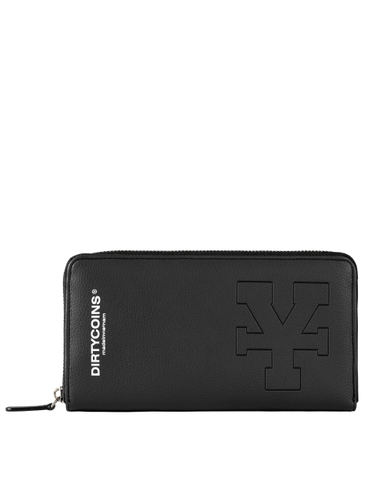 DirtyCoins Y Logo Zip Wallet - Black