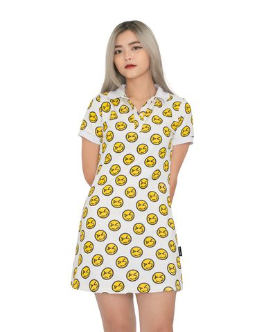 DirtyCoins Fukyba Monogram Polo Dress