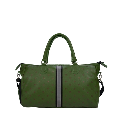 DirtyCoins Logo Pattern Bowler Bag - Olive