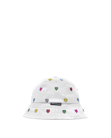 Multicolor Monogram Bucket Hat - White
