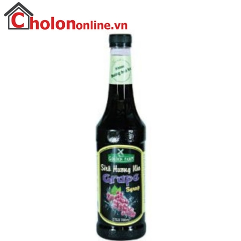 Sirô Golden Farm 700ml - nho