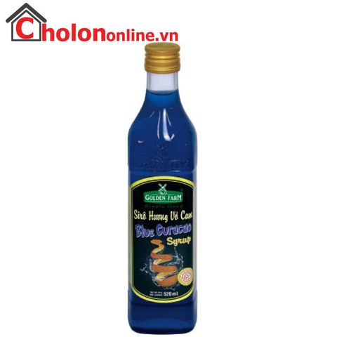 Sirô Golden Farm 520ml - Vỏ cam (blue curacao)