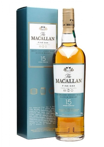 Rượu The Macallan 15yo Fine Oak Single Malt Scotch Whisky 700ml