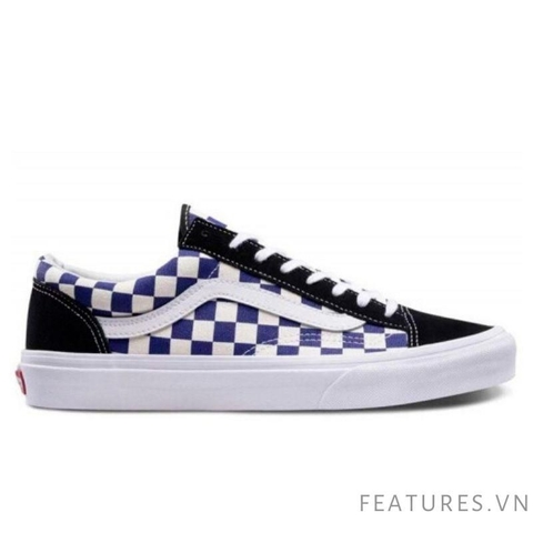 Vans Style 36 Black Navy Checkerboard - Ship US