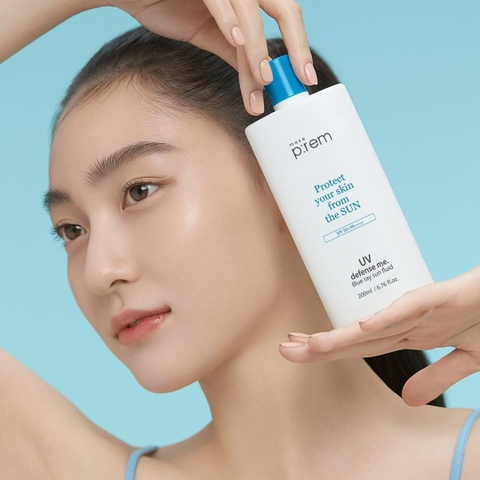 Make P:rem - Kem Chống Nắng Make Prem UV Defense Me Blue Ray Sun Cream - Sun Fluid SPF 50 PA++++
