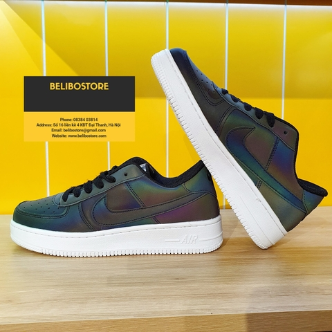 Giày thể thao Air Force 1 low Black Holo