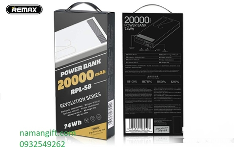 PIN REMAX RPL-58 20000mAh