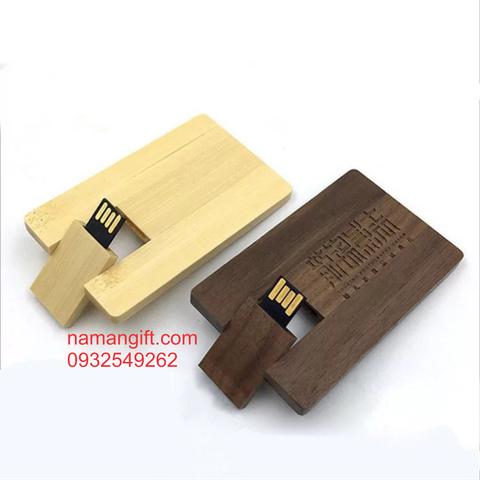 USB BẰNG GỖ DẠNG THẺ