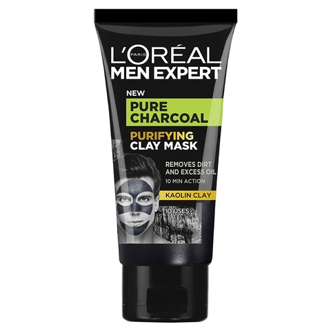 Mặt nạ đất sét than đá L'Oreal Men Expert Pure Charcoal Purifying Clay Mask 50ml