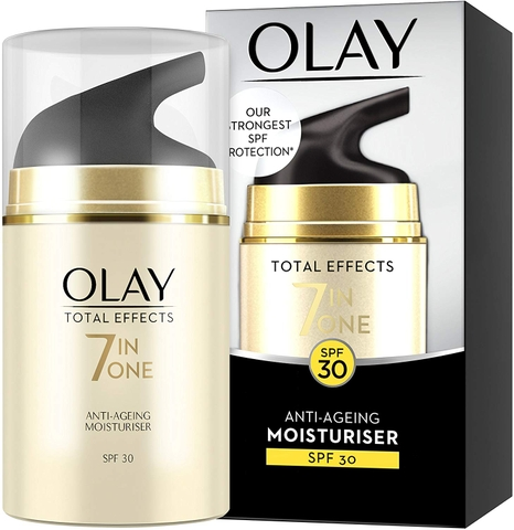 Kem dưỡng ẩm ban ngày Olay Total Effects 7-in-1 Anti-Ageing Moisturiser with SPF30, Niacinamide, Vitamin C and E, 50 ml