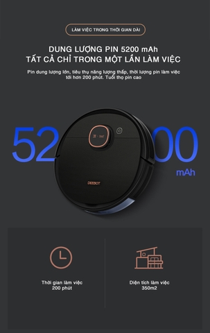 Robot hút bụi lau nhà Ecovacs Deebot T5 Max (DX65) - Sự lựa chọn hàng đầu