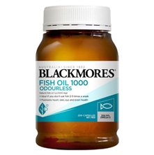 Blackmores Odourless Fish Oil 1000mg 200 Capsules Viên uống Dầu Cá Blackmores Omega 3 Fish Oil 1000mg 200 viên