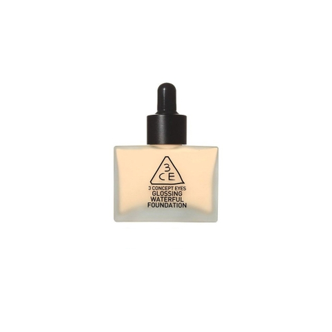 Kem Nền 3CE Glossing Waterful Foundation #Nude Beige