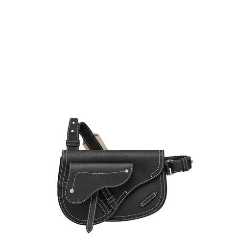 TÚI DIOR X KAWS SADDLE IN BLACK