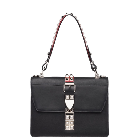 TÚI PRADA BLACK STUDDED LEATHER