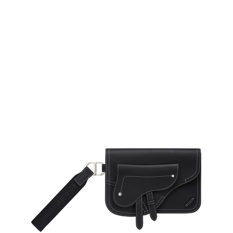 TÚI CLUTCH DIOR BLACK SADDLE