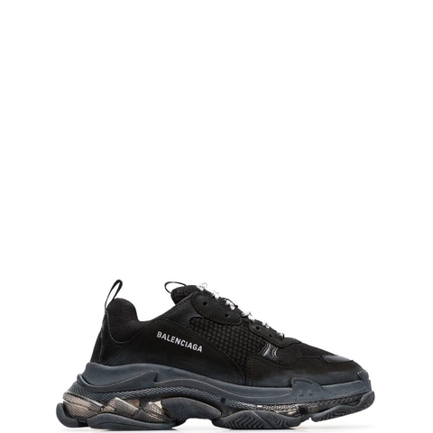 GIÀY BALENCIAGA BLACK TRIPLE S CLEAR SOLE