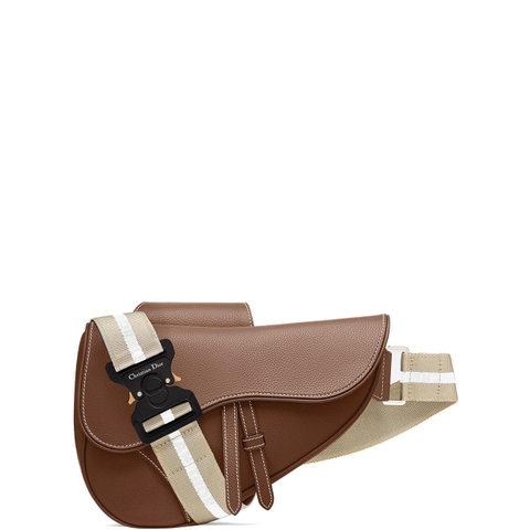 TÚI DIOR SADDLE BAG IN BROWN