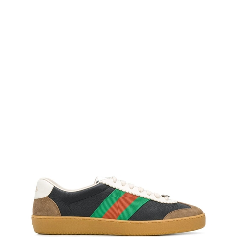 GIÀY GUCCI G74 BLACK SNEAKER WITH WEB
