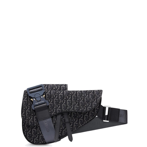 TÚI DIOR OBLIQUE JACQUARD SADDLE GREY