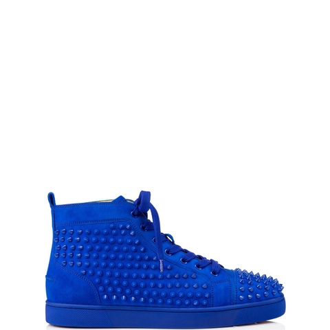 GIÀY CHRISTIAN LOUBOUTIN LOUIS SPIKES BLUE