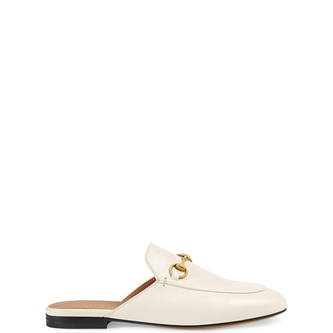 GIÀY GUCCI WHITE HORSEBIT SLIPPER
