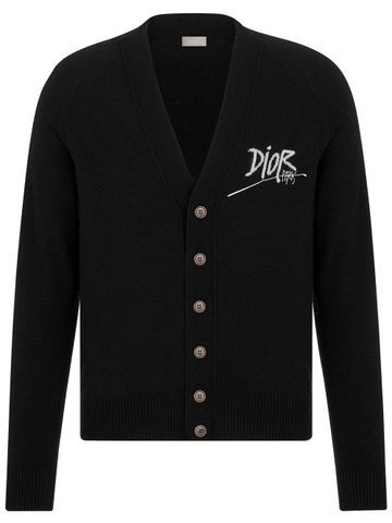 ÁO CARDIGAN DIOR AND SHAWN LOGO EMBROIDERED CHUẨN 1:1 AUTHENTIC