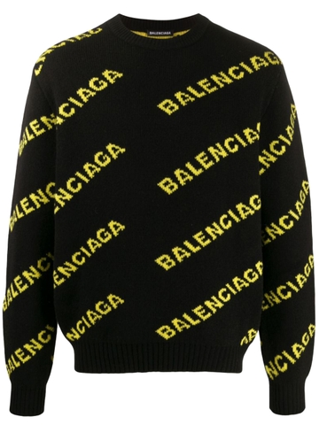 ÁO LEN BALENCIAGA ALL OVER LOGO CHUẨN 1:1 AUTHENTIC