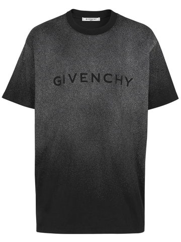 ÁO PHÔNG GIVENCHY LOGO WITH GLITTER EFFECT CHUẨN 1:1 AUTHENTIC