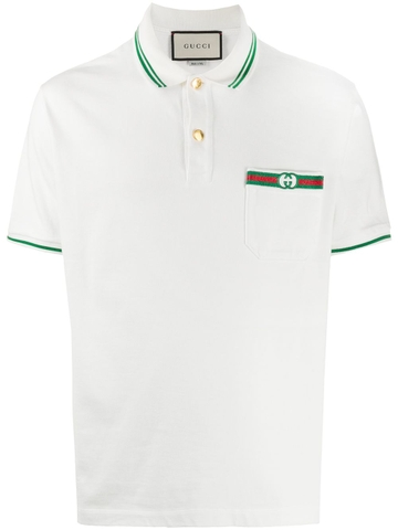 ÁO POLO GUCCI WITH WEB AND INTERLOCKING G CHUẨN 1:1 AUTHENTIC