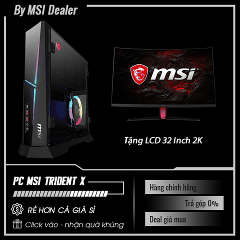 PC MSI Trident X Plus 9SE 256XVN | i7-9700K | RAM 16GB | SSD 256GB + HDD 1TB | VGA RTX 2080 | FreeDOS