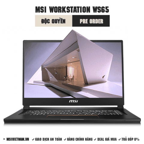Laptop Workstation MSI WS65 8SK | i7-8750H | DDR IV 16GB*2 (2666MHz) | SSD 512GB | Quadro P3200, 6GB GDDR5 | 15.6