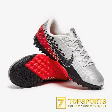 Nike Mercurial Vapor 13 Academy TF Kids – Chrome/Black/Red/Orbit Platinum AT8144 006