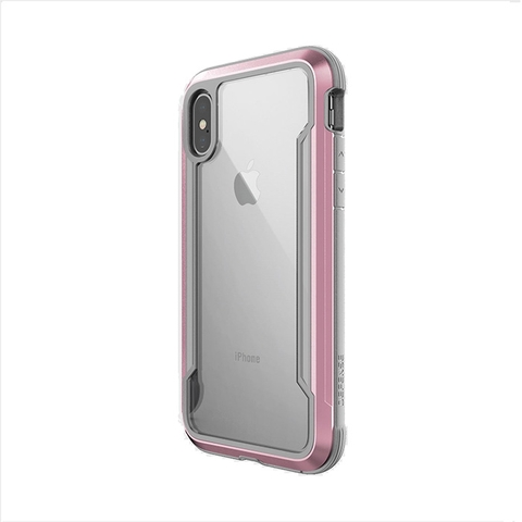 X-doria Defense Shield for iPhone Xs Max, Clear Rose Gold