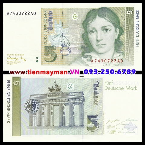 Germany 5 Mark 1991 UNC
