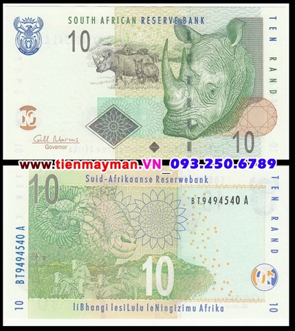 South Africa - Nam Phi 10 Rand 2009 UNC