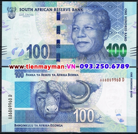 South Africa- Nam Phi 100 Rand 2012 UNC