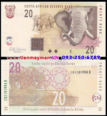 South Africa - Nam Phi 20 Rand 2009 UNC