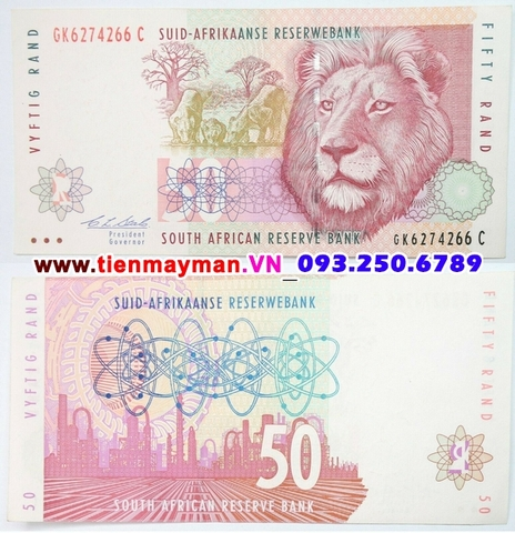 South Africa - Nam Phi 50 Rand 2009 UNC