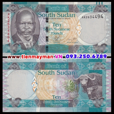 South Sudan 10 Pound 2011 UNC